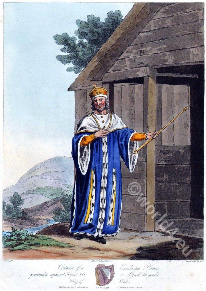 Hywel Dda, Hywel the Good, Cambrian Prince, England 10th century