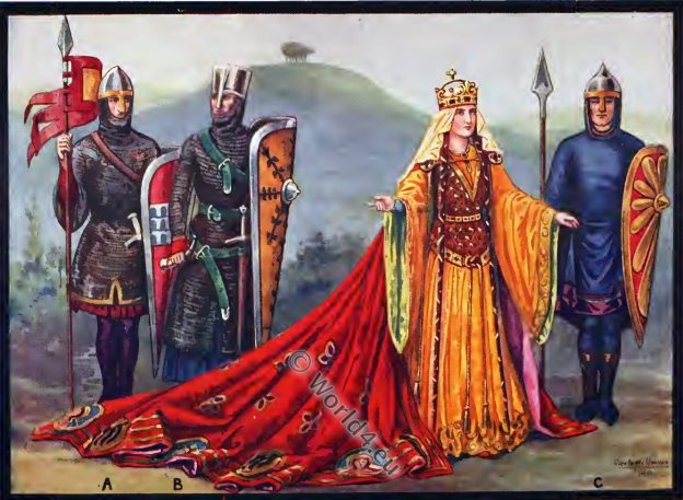 Empress Matilda, female regent, England, history, Middle ages costumes