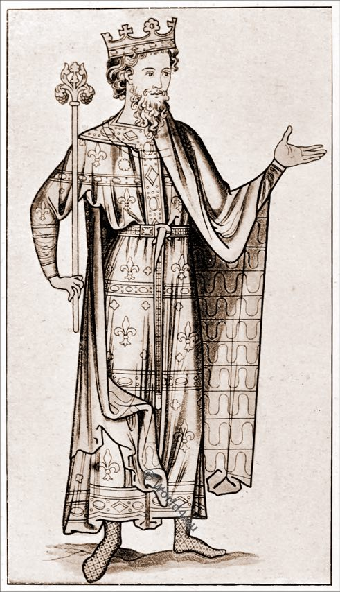 Regal costume, medieval, England fashion, 12th century, middle ages,