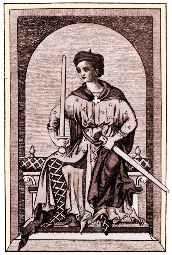 Nobleman, thirteenth century, costume, middle ages,