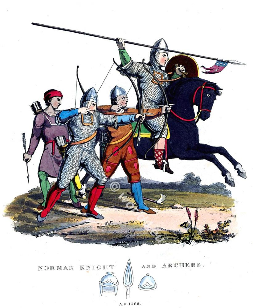 Norman knight, archers, Battle, Hastings, England 11th century