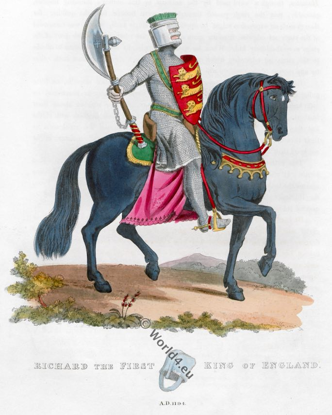 Richard I, Lionheart, King of England, Middle ages knight, armor, Plantagenet