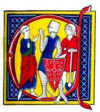 Gautier de Metz, initial letter, Manuscript, Middle ages