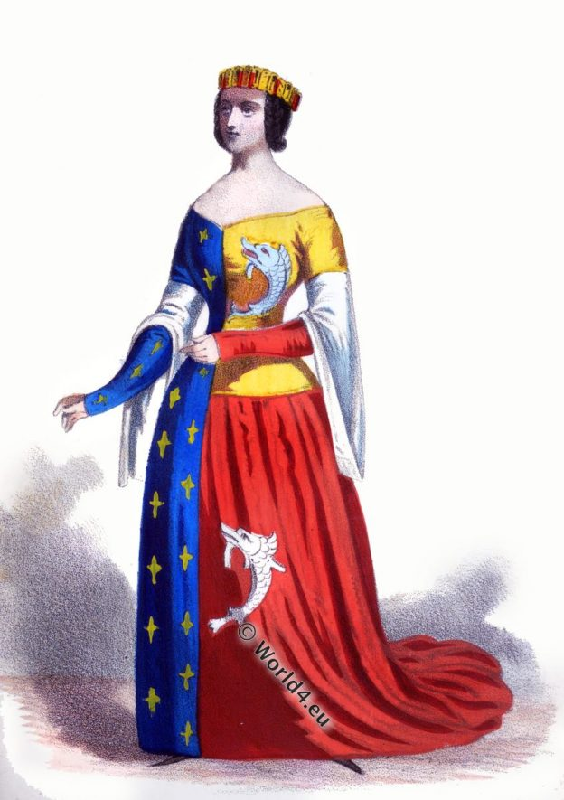 Heraldic clothing, Medieval,Duchess,Arts, Culture,Fourteenth, Fleur De Lys,