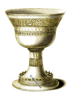 Mary de Valentia, Pembroke College, Cambridge, Cup, silver gilt