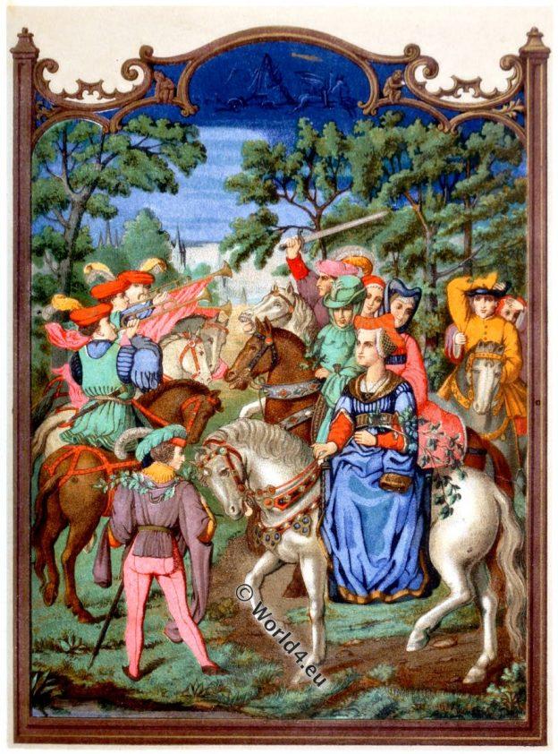 CHATEAU, 16th century, middle ages, castle, life, costume, court, dress