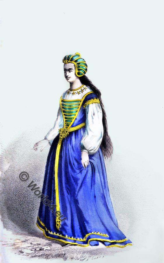 English Lady, 15th century, costume fashion, Tudor costume, middle ages, medieval fashion, court dress