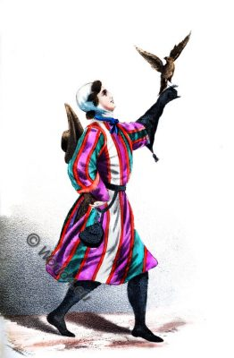 German Falconer, 13th century costume, middle ages, medieval fashion, gothic, dress, clothing