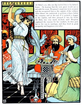 Ali Baba, Walter Crane, Children's Books, Fairy Tales, Folk Tales, Myths, illustrator, Art Nouveau, Arts and Crafts Movement