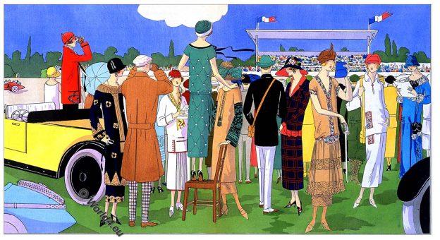 Georges Dœuillet, Jeanne Lanvin, Jean Patou, Premet, Art deco, Fashion history, 1920s, costumes