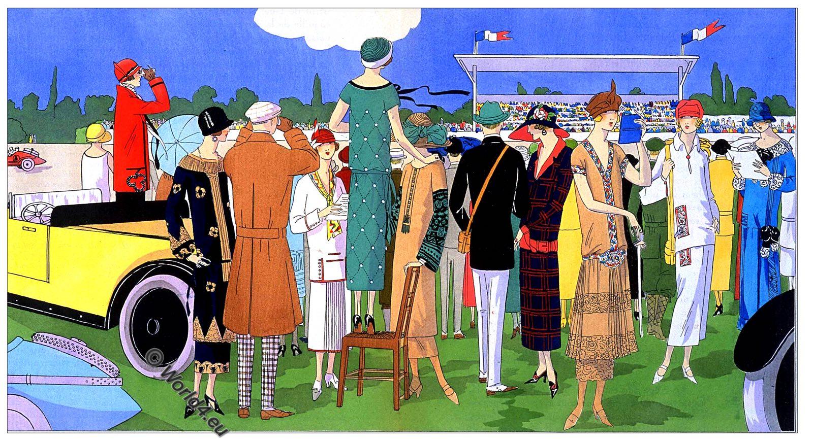 Parisian chic, Georges Dœuillet, Jeanne Lanvin, Jean Patou, Premet, Art deco, Fashion, costumes