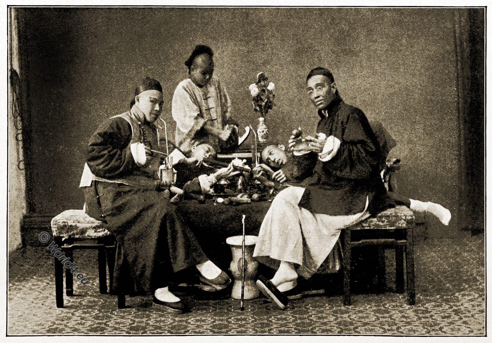 Opium, smocking, Shanghai, China,