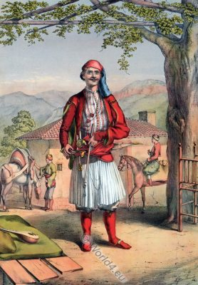 Albanian Guard, Ottoman costumes, Hajastan, Ottoman Empire, Historical Clothing, Turkey, Costume history