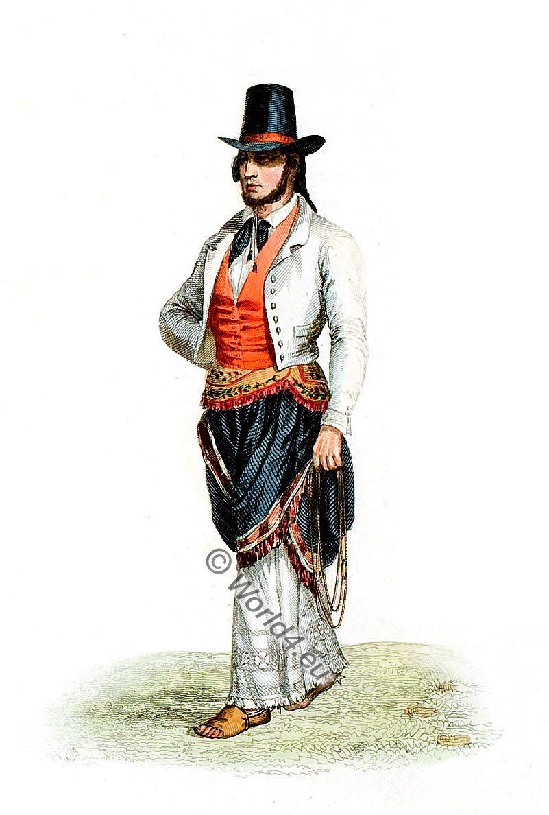 national costume, Argentina, landlord, Estanciero, Ġaucho Proprietre, land owner, Gaucho,