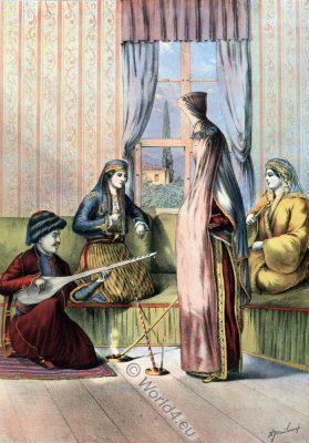 Armenian Bride, Ottoman costumes, Hajastan, Ottoman Empire, Historical Clothing, Turkey, Costume history