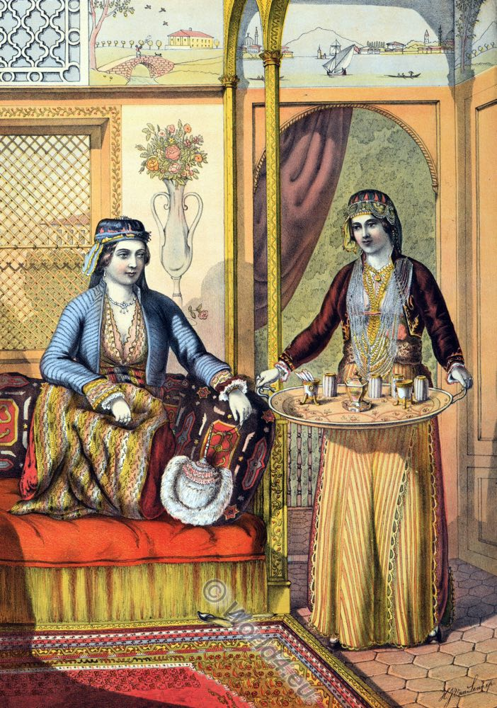 Armenian Ladies, Armenia, Hajastan, Ottoman costumes, Ottoman Empire, Historical Clothing, Turkey, Costume history