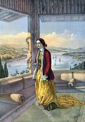 Armenian Lady, Ottoman costumes, Ottoman Empire, Historical Clothing, Turkey, Costume history