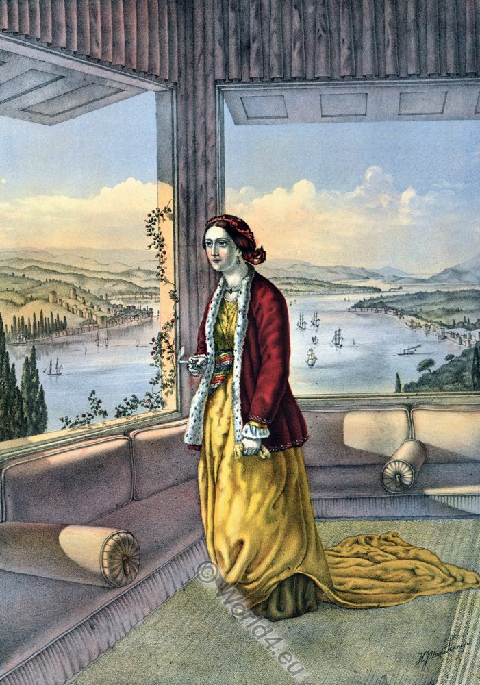 Armenian Lady, Ottoman costumes, Ottoman Empire, Historical Clothing, Turkey, Costume history