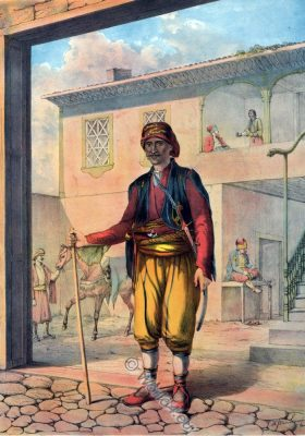 Turkish Cavass, Police Officer, Oriental Album, Ottoman costumes, Ottoman Empire, Historical Clothing, Turkey, Costume history