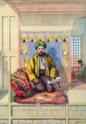 Turkish Scribe, Oriental Album, Ottoman costumes, Ottoman Empire, Historical Clothing, Turkey, Costume history
