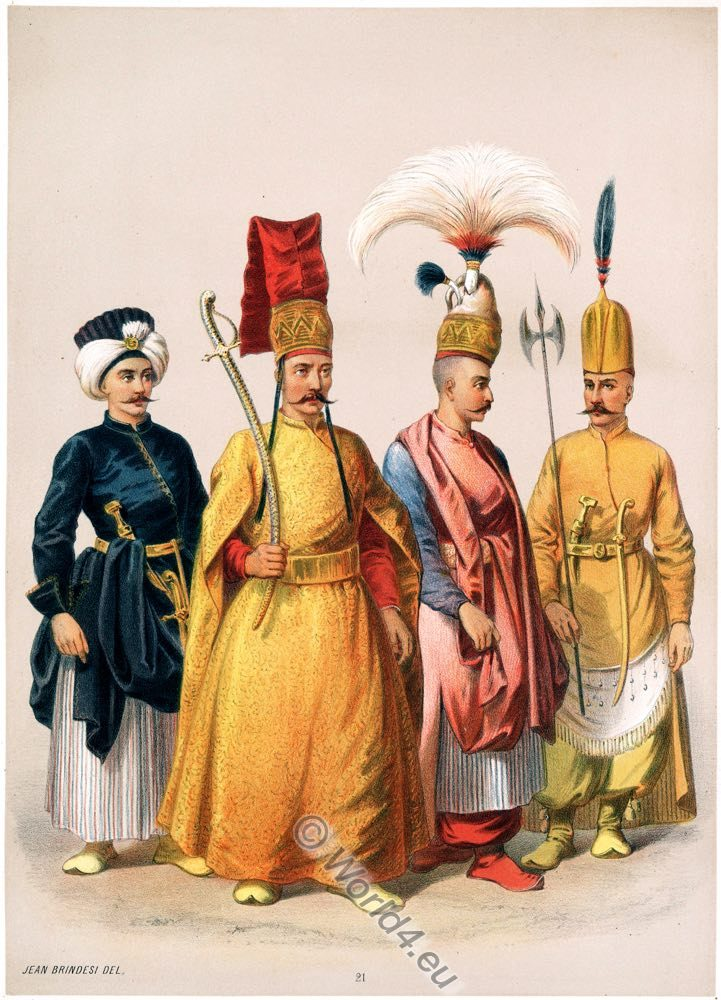 Bach Tchohadar, Silihtar Aga, Peik, Solak, Ottoman costumes, Jean Brindesi