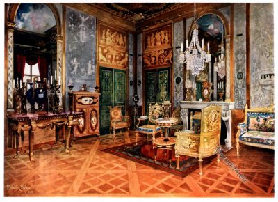 Salon de Musique, Marie Antoinette, France, Rococo, Furniture, 18th century