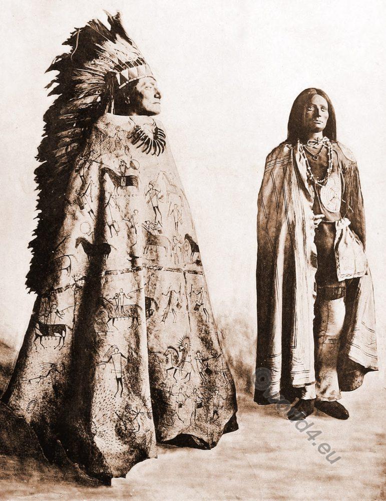 Dakota, Mandan, squaw, costumes, indian native, Tribe, america,