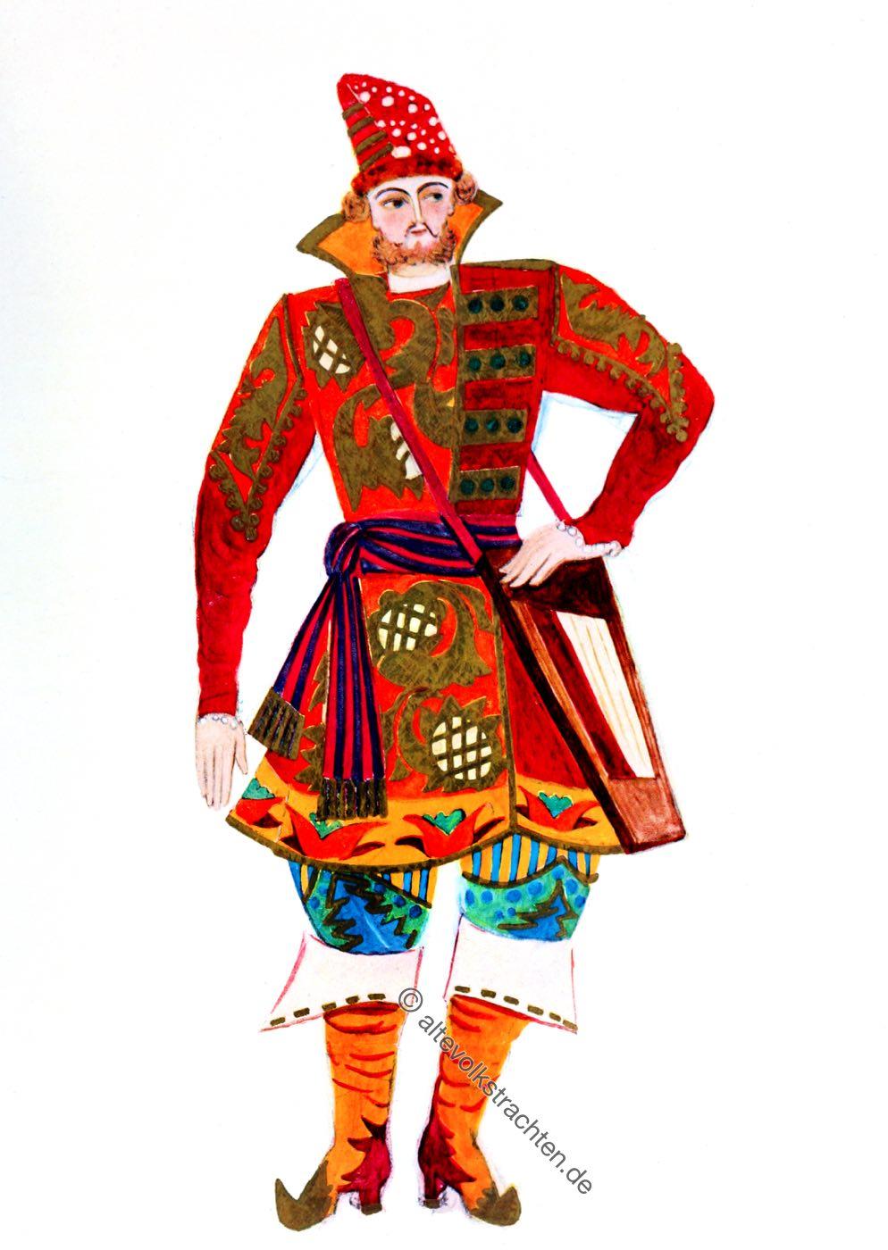 Sadko, Russia, Ballet, costume, Russian, Folk, Tale,
