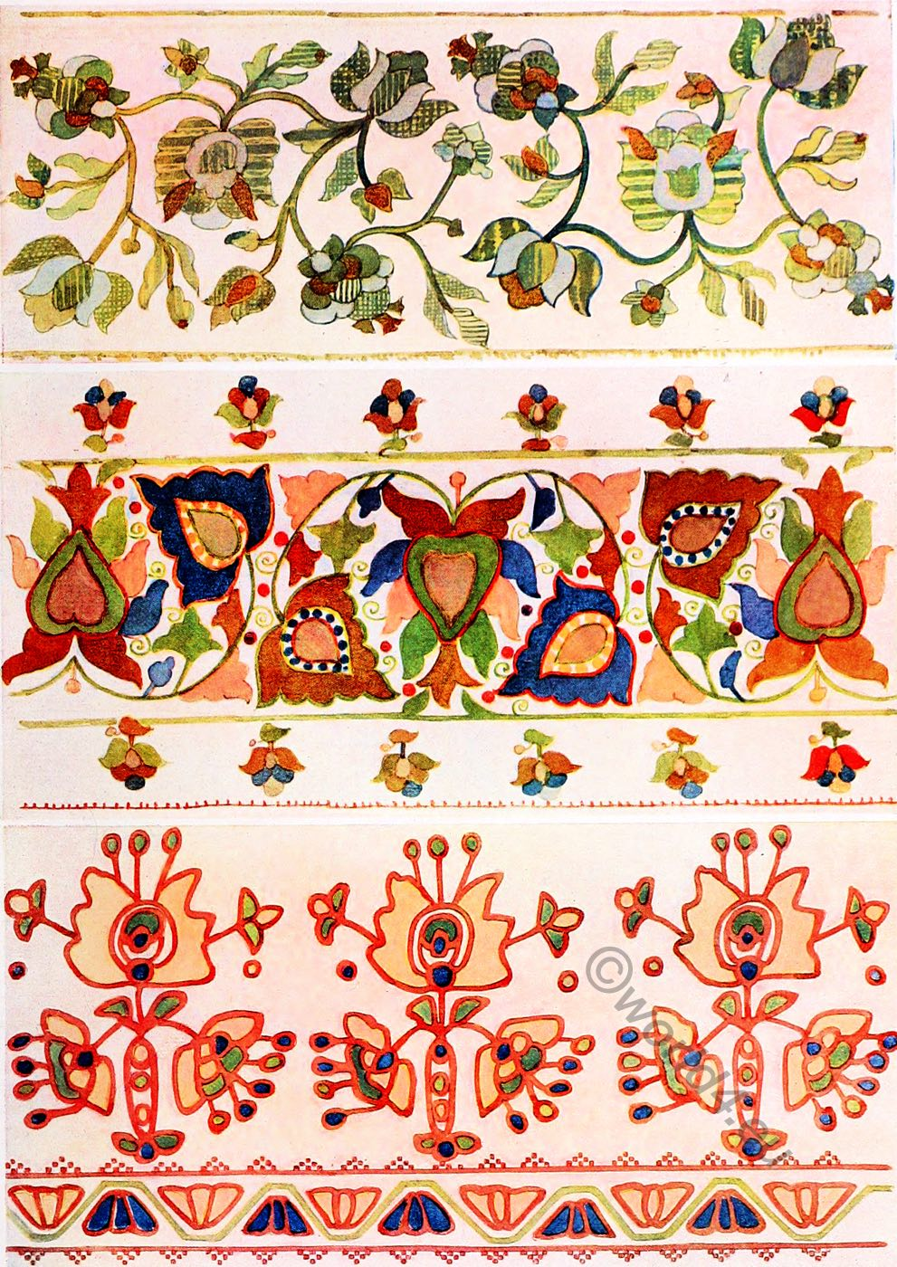 Silk, Embroidery, design, Ukraine,Peasant art