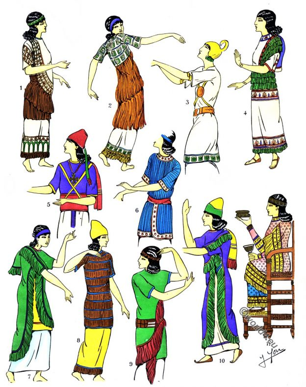 Assyria, Blouses, Ensembles, fashion history, costumes, history