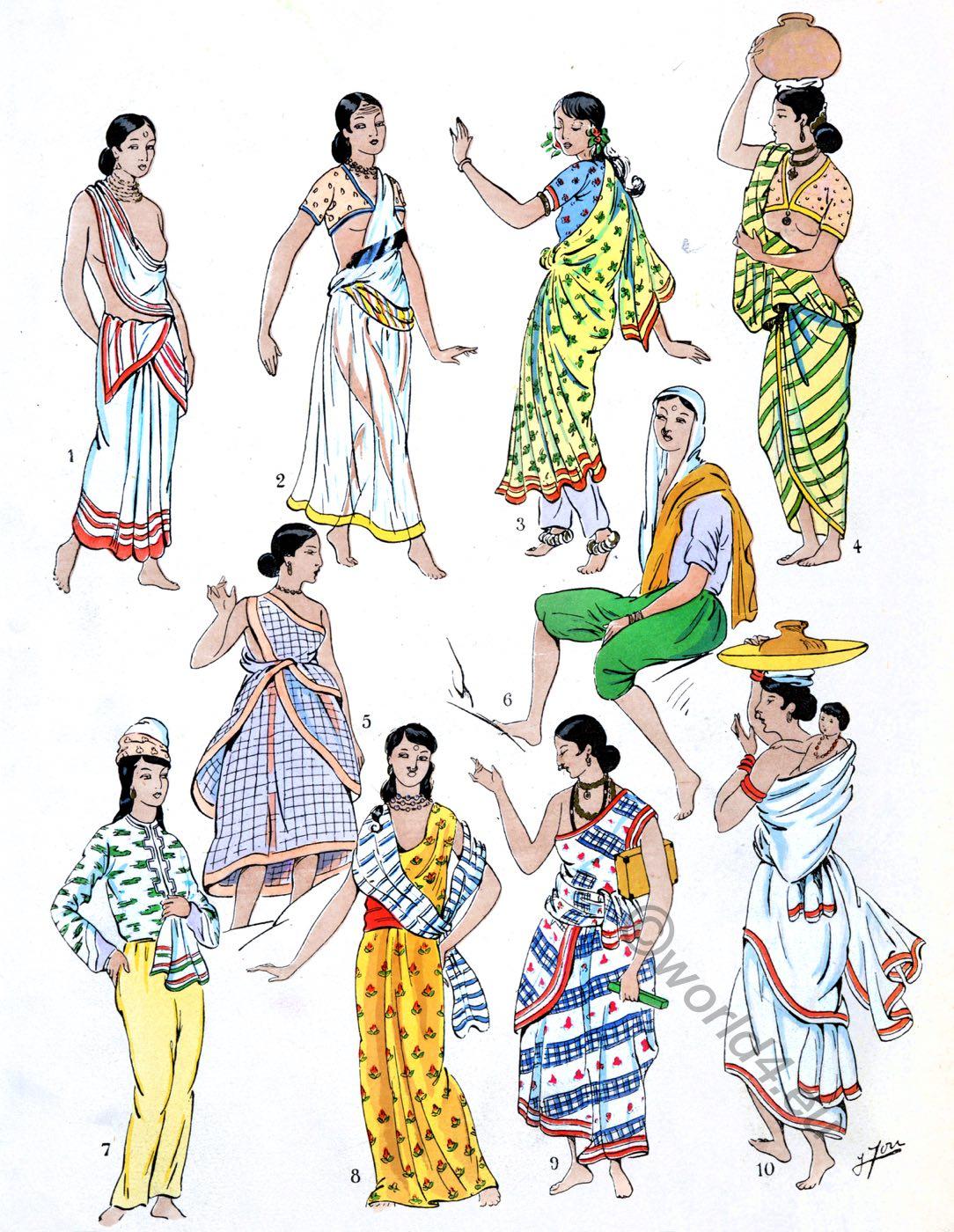 India dresses, garments, Fashion History, Costumes, Paul Louis de Giafferri