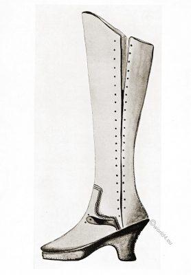 historic, shoes, Tudor, buskin, England, 16th century,