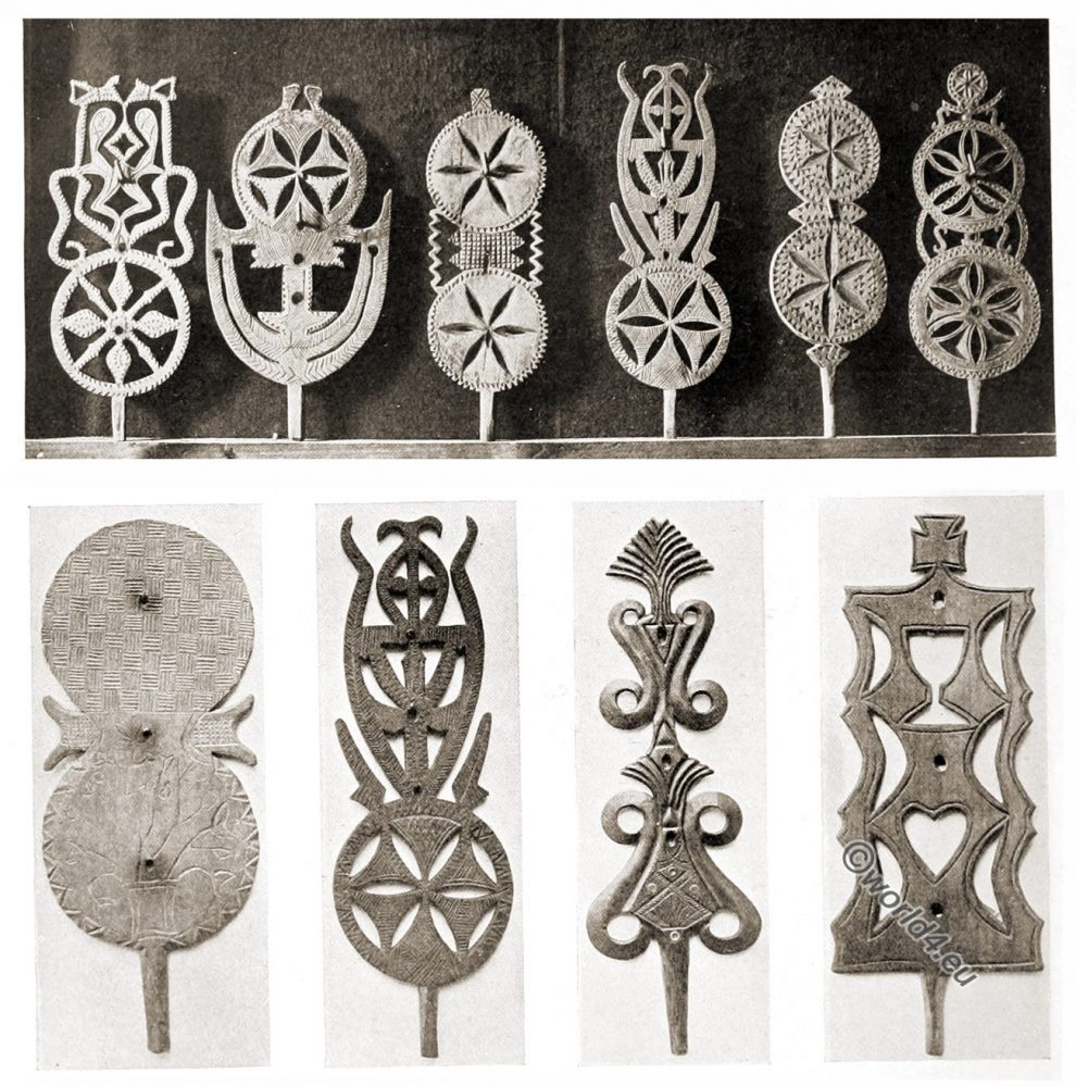 Lithuania, Carved, Spindels, peasant art, Decorative arts, ornaments, woodwork, Crafts