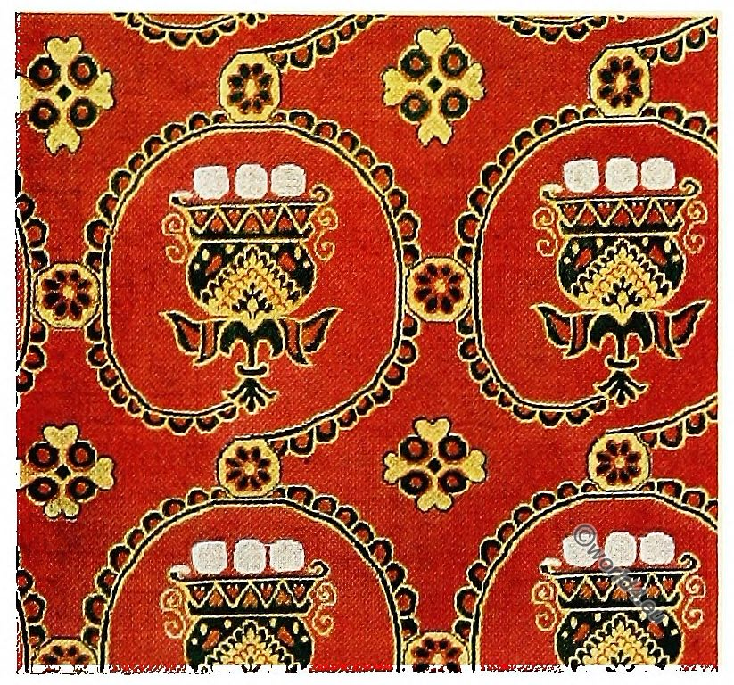 Antique, Fabrics, Silk, Pattern, Sassanid, Persia, Egypt,