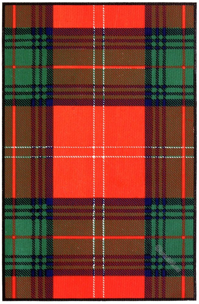 Tartan, Clan, Chisholm, Scottish, Scotland