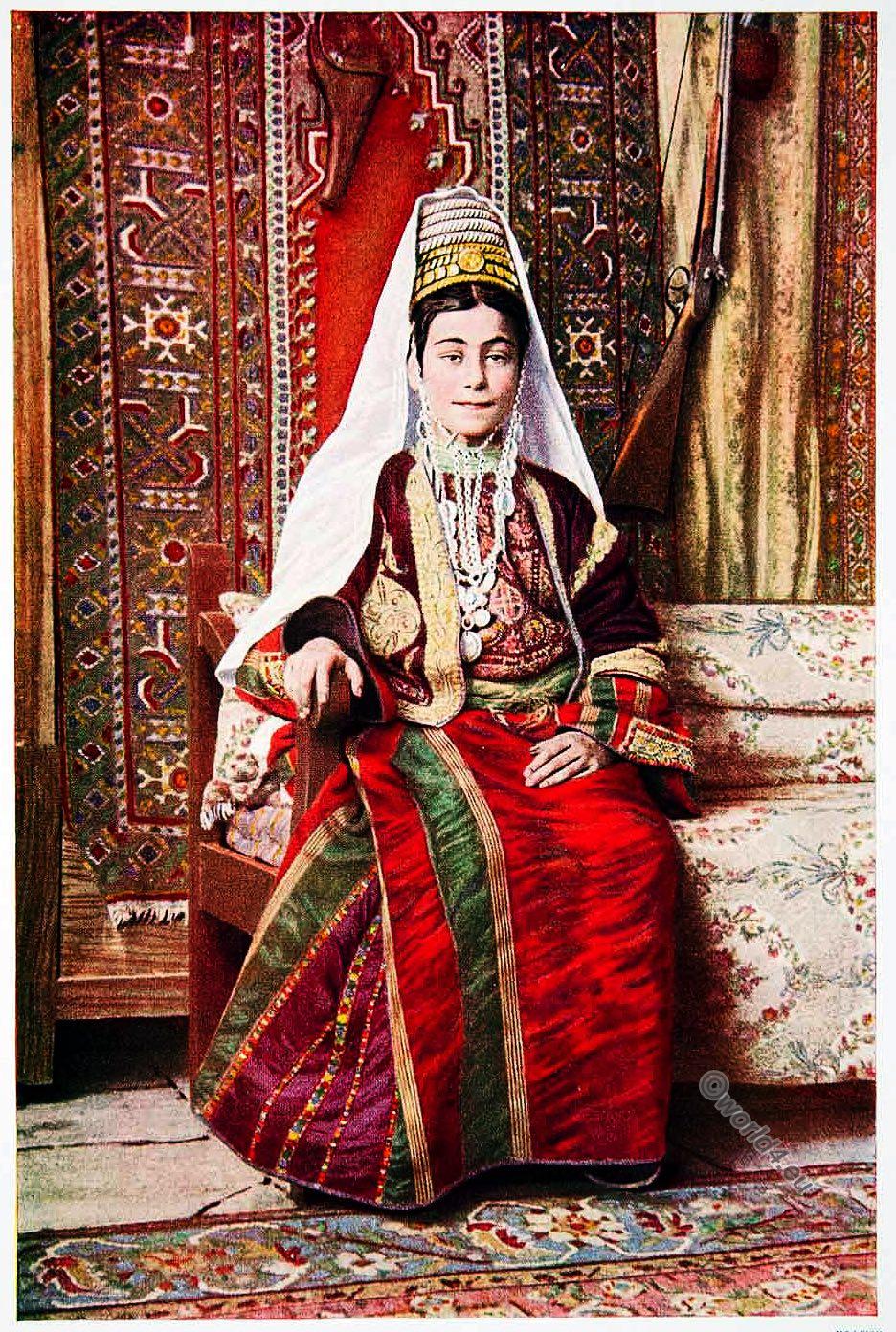 Bethlehem, traditional, costume, colored dress, Palestine, Holy Land,