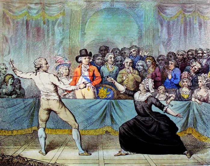 Assaut, Fencing Match, chevalière, D'EON DE BEAUMONT,
