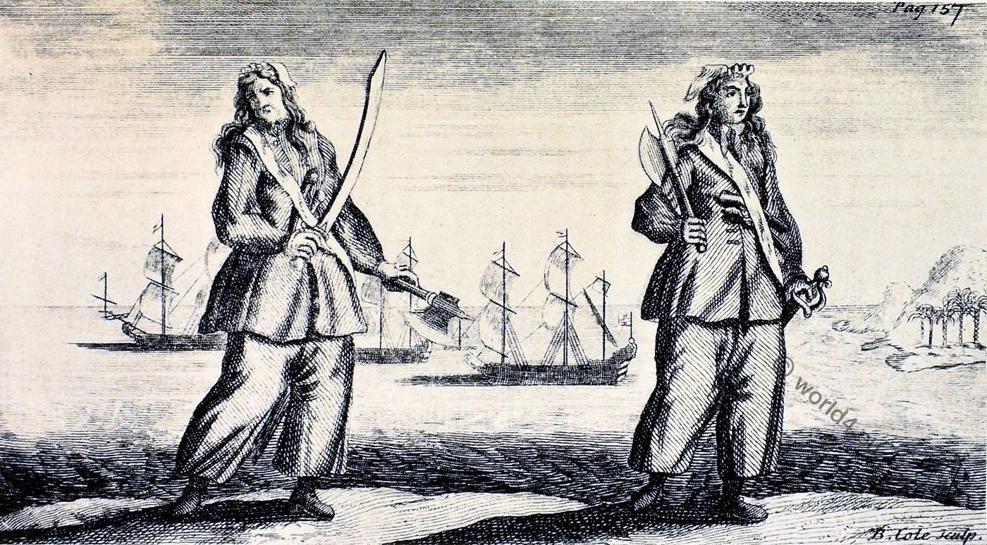 Ann Bonny, Mary Read, piracy, pirates, famous, female,