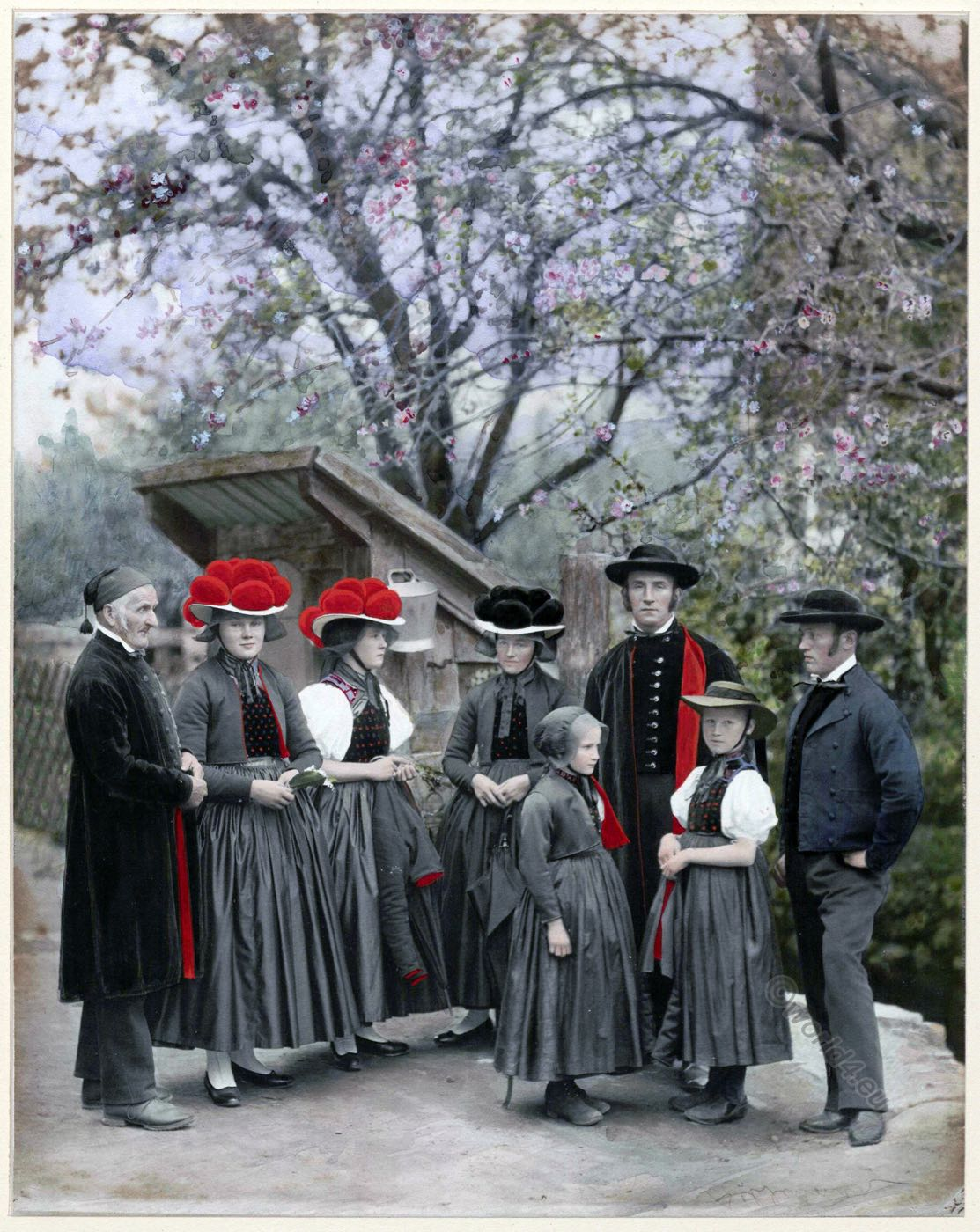 Gutach, Black Forest, Wolfach, Germany, traditional, costumes,