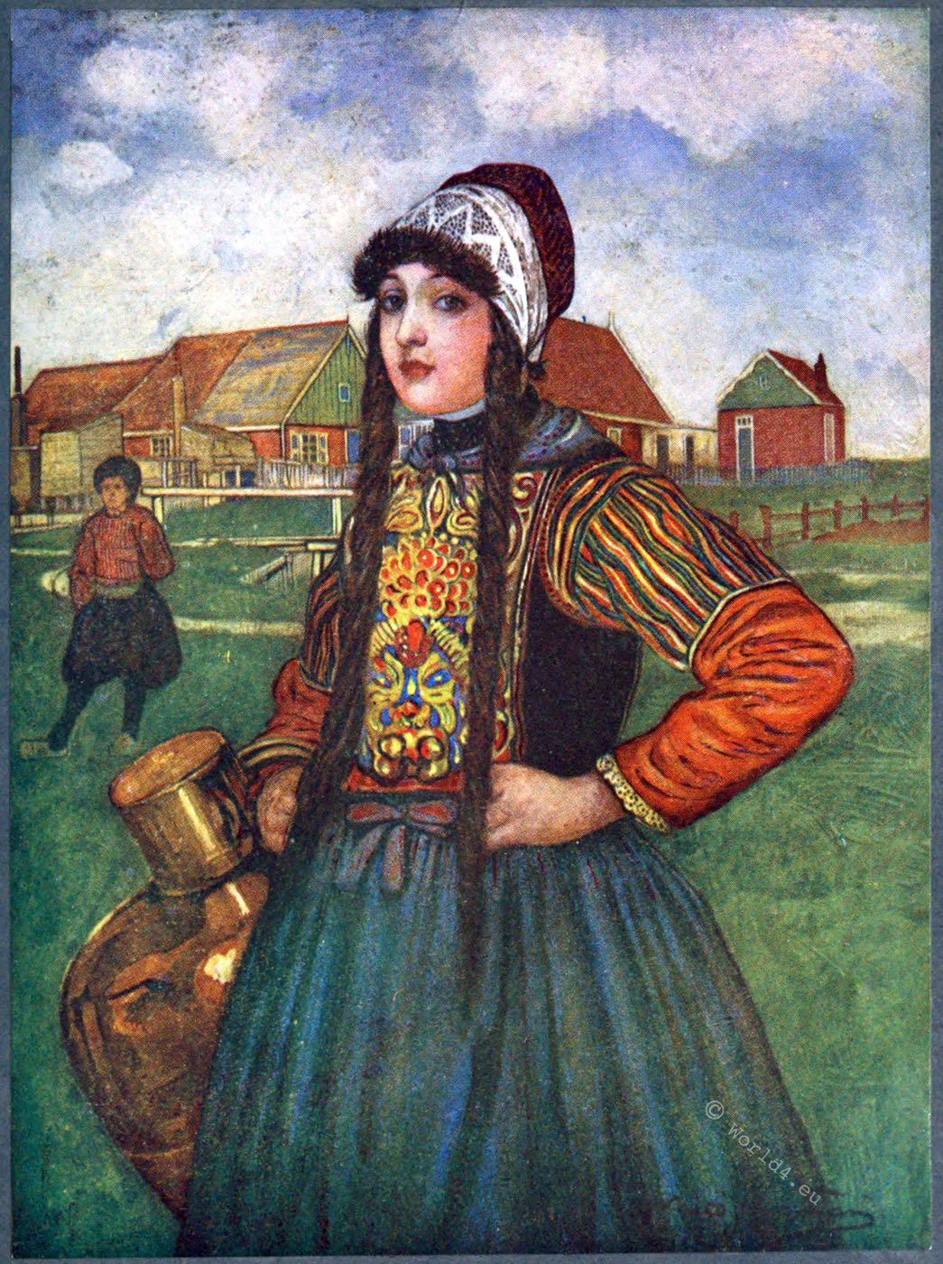 Traditional costume, Marken, Holland, Netherlands, Jungman, Nico
