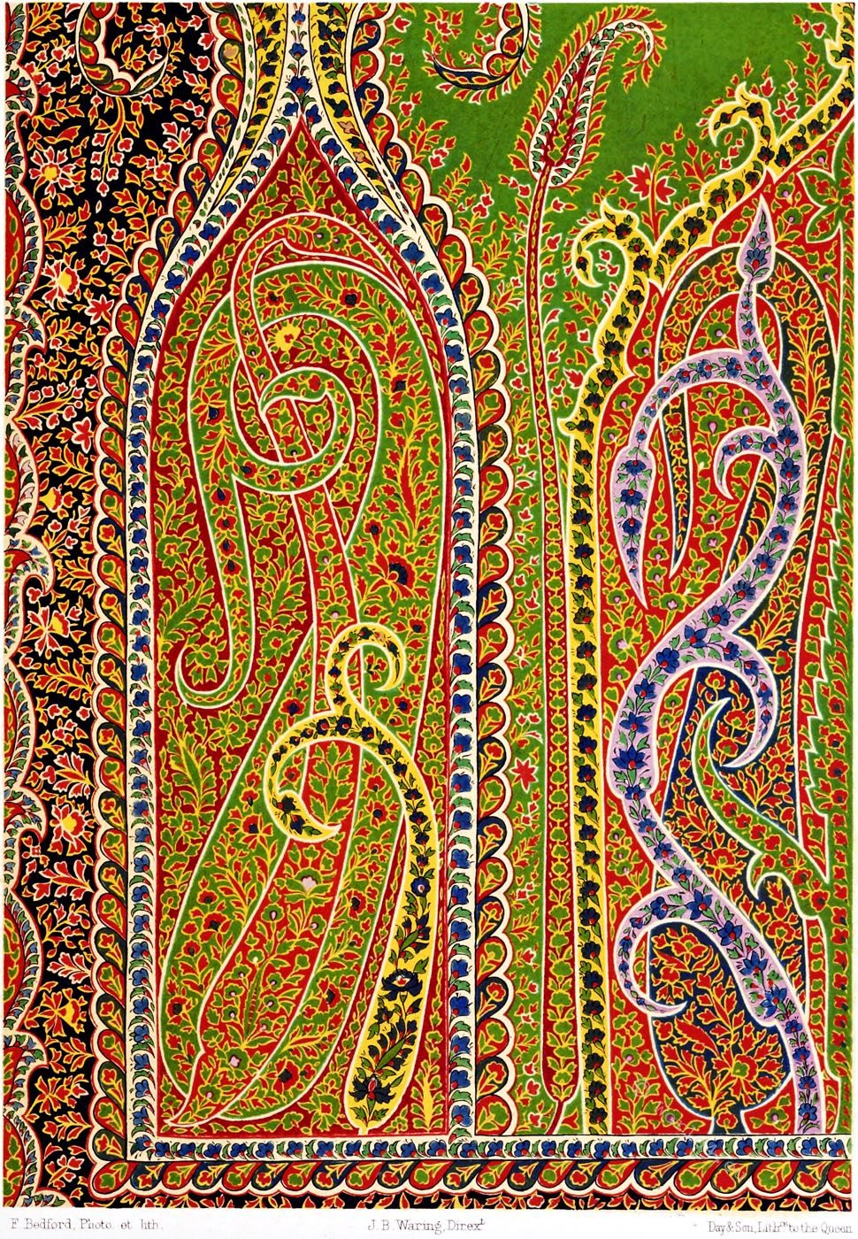 India, Textile, Art, Design, shawl, traditional, Moghul,