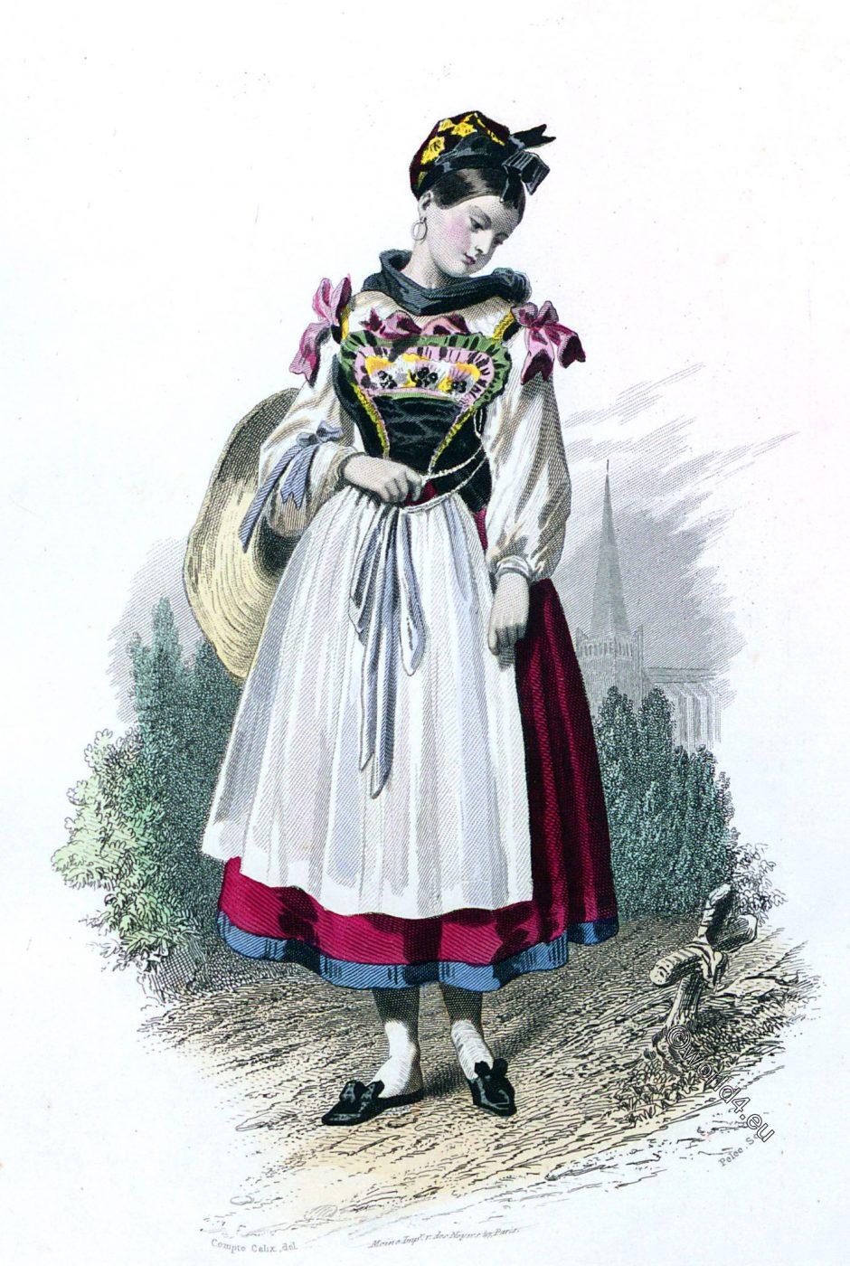 Alsace, Neuwiller-lès-Saverne, costume, traditional, France