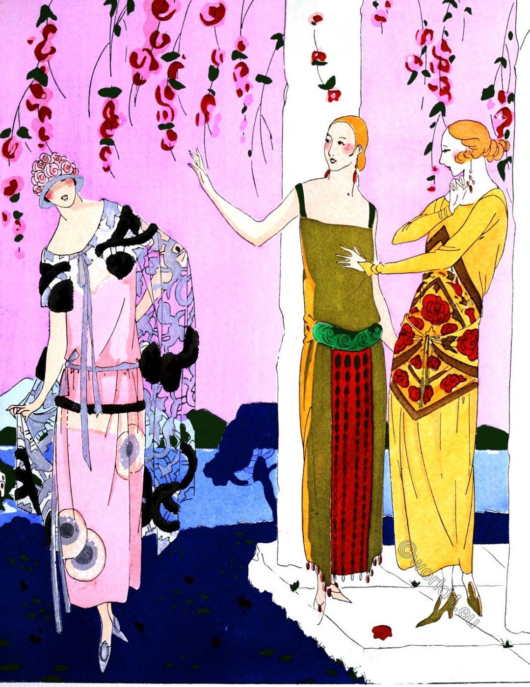 Art-Goût-Beauté, Haute Couture Paris, Art-Deco, fashion, costumes, Brandt, Lenieff