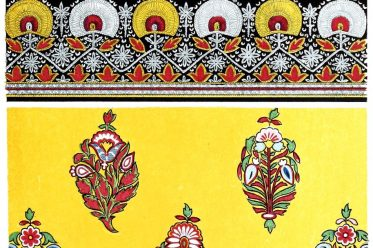 Textil design,Satin, Embroidery, India, specimen