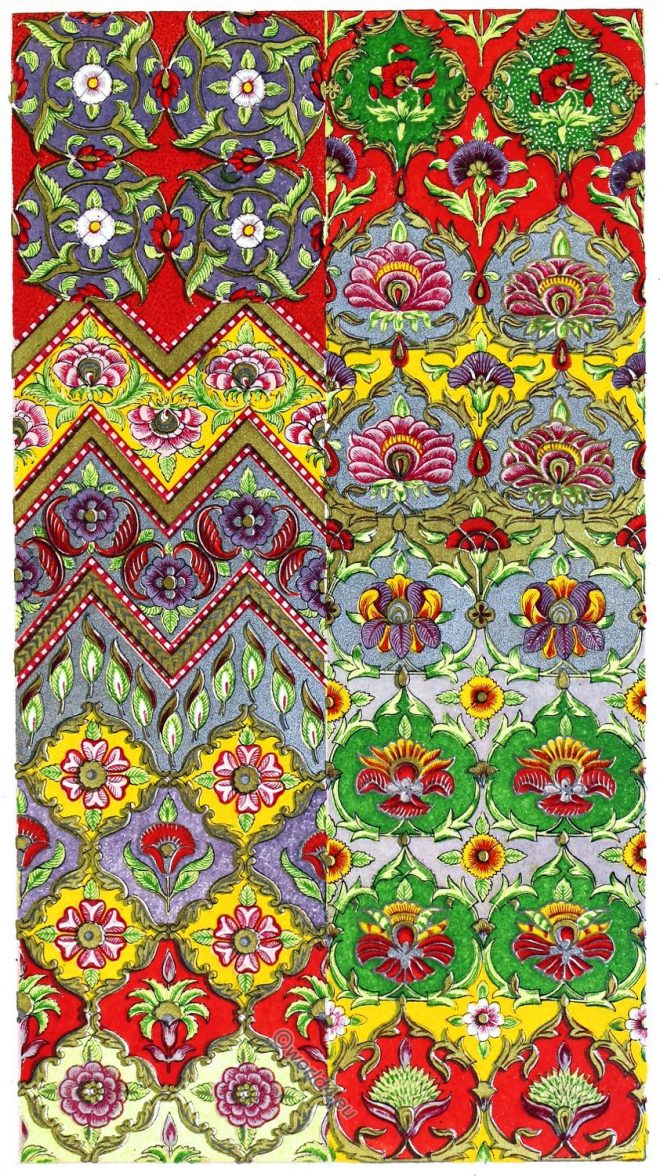 Oriental art, persia, Iran, design, fabric, ornaments