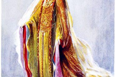 Noble, woman, 12th century, fashion