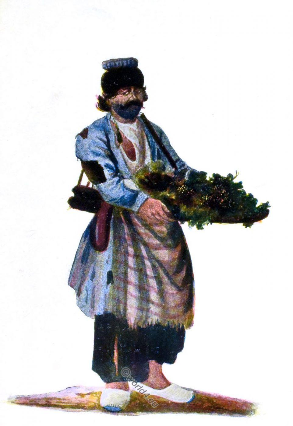 grape trader, Iran, Persia, costume,