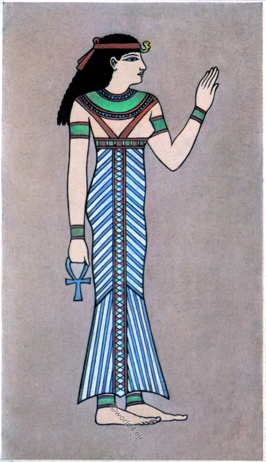 Ancient Egyptian Costume And Fashion History Decoration Coloring