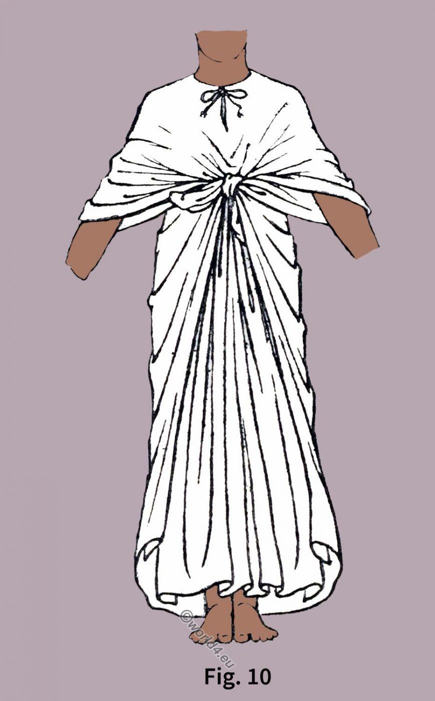 Ancient, Egypt, fashion, history, Egyptian Robe, Draped,