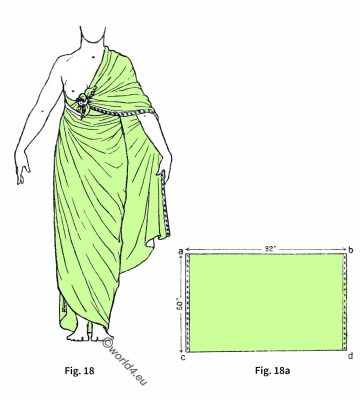 Ancient, Egypt, costume, history, Shawl, Drapery
